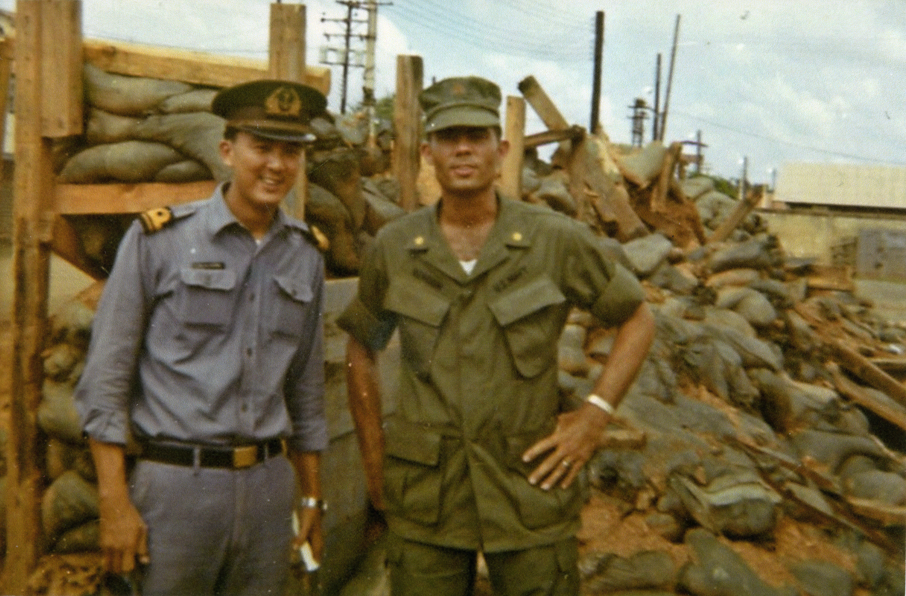 Lieutenant Commander Benson with RVN Navy counterpart Nha Be June 1971