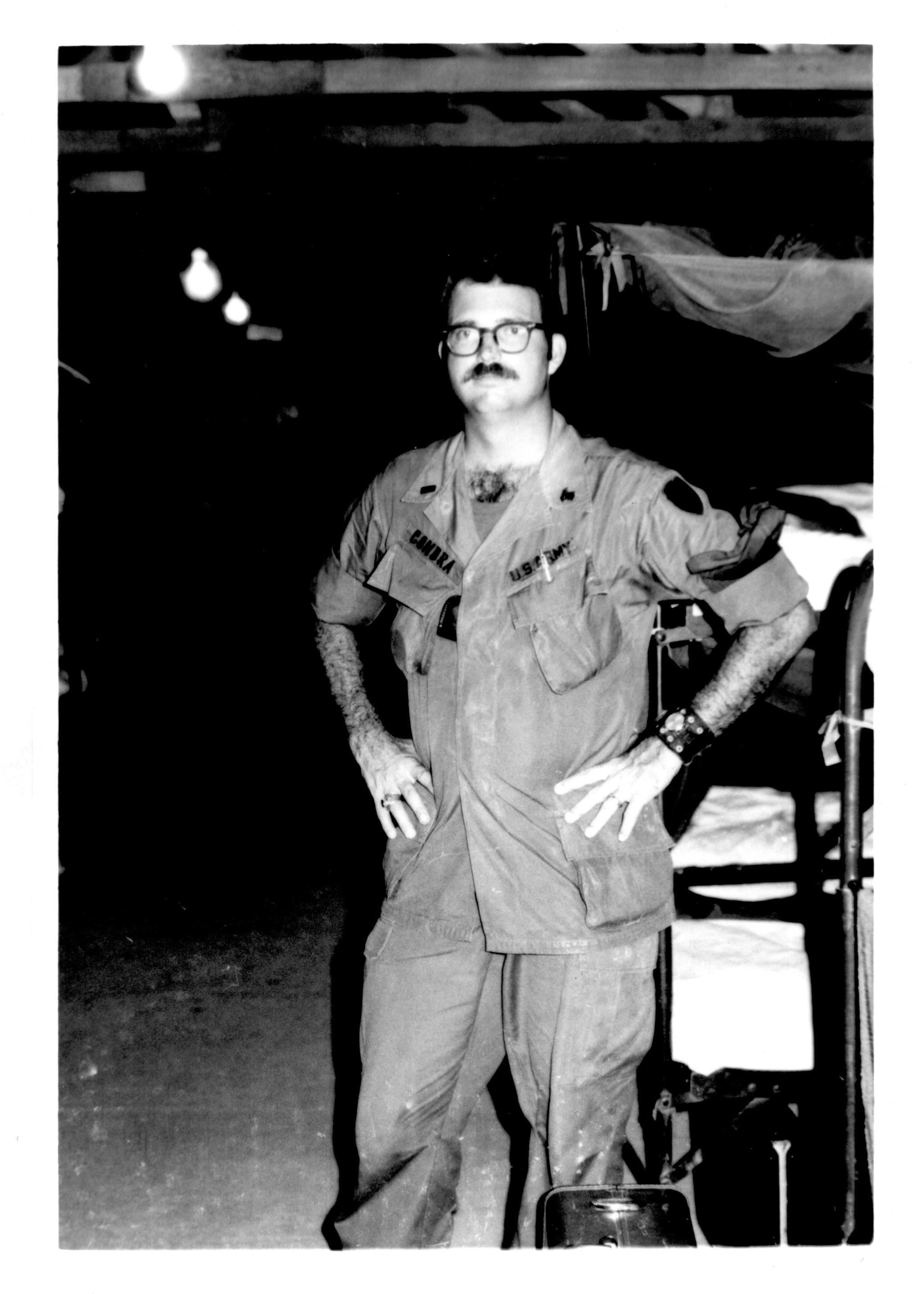 Gary Condra in barracks