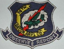 74th Reconnaissance Aviation Company Patch