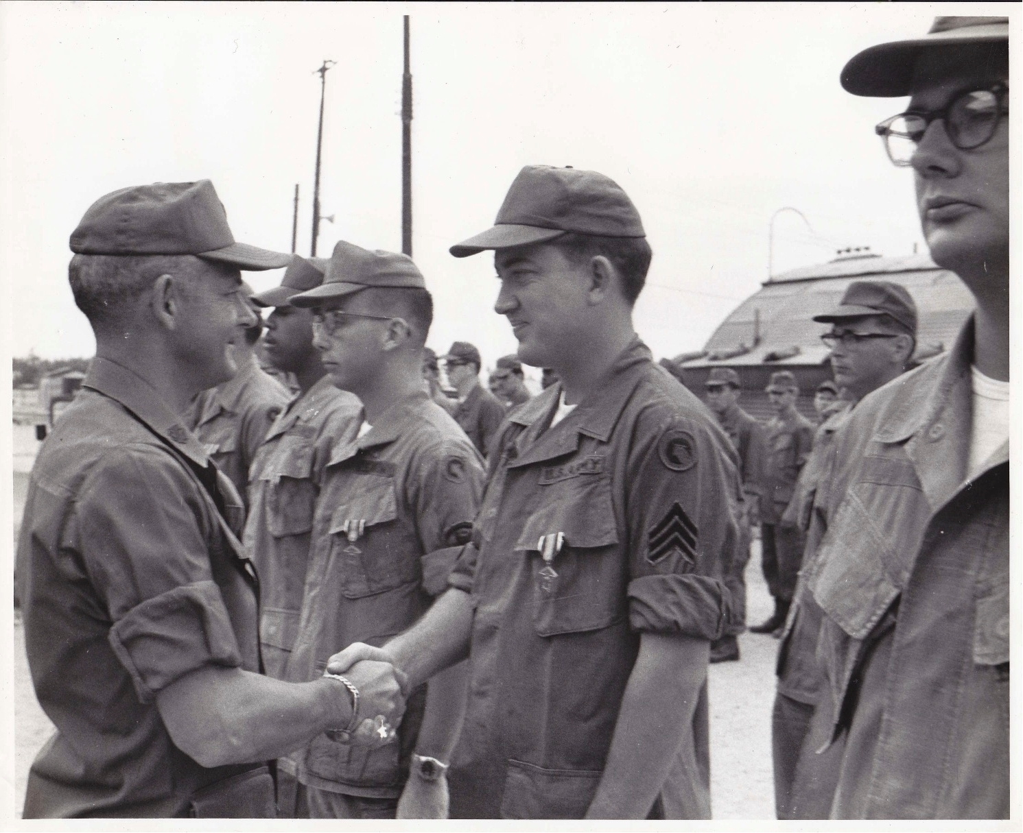 Danny Martin receiving Army Commendation medal