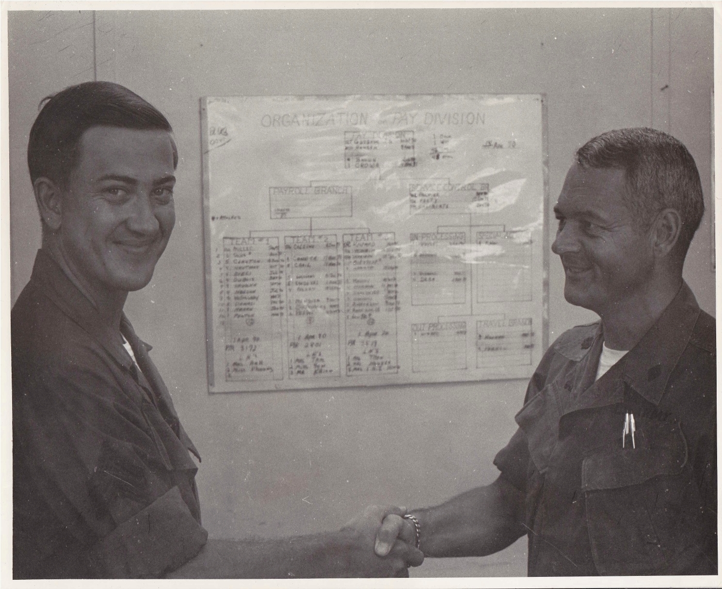 Danny Martin with Colonel Gabriel