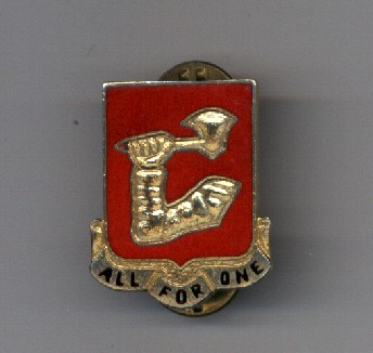40th Artillery Brigade distinctive insignia pin