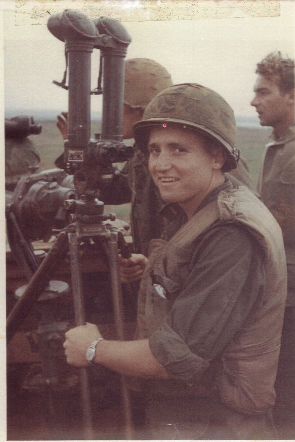 Patterson in Gio Lihn looking at the DMZ, October 1967.