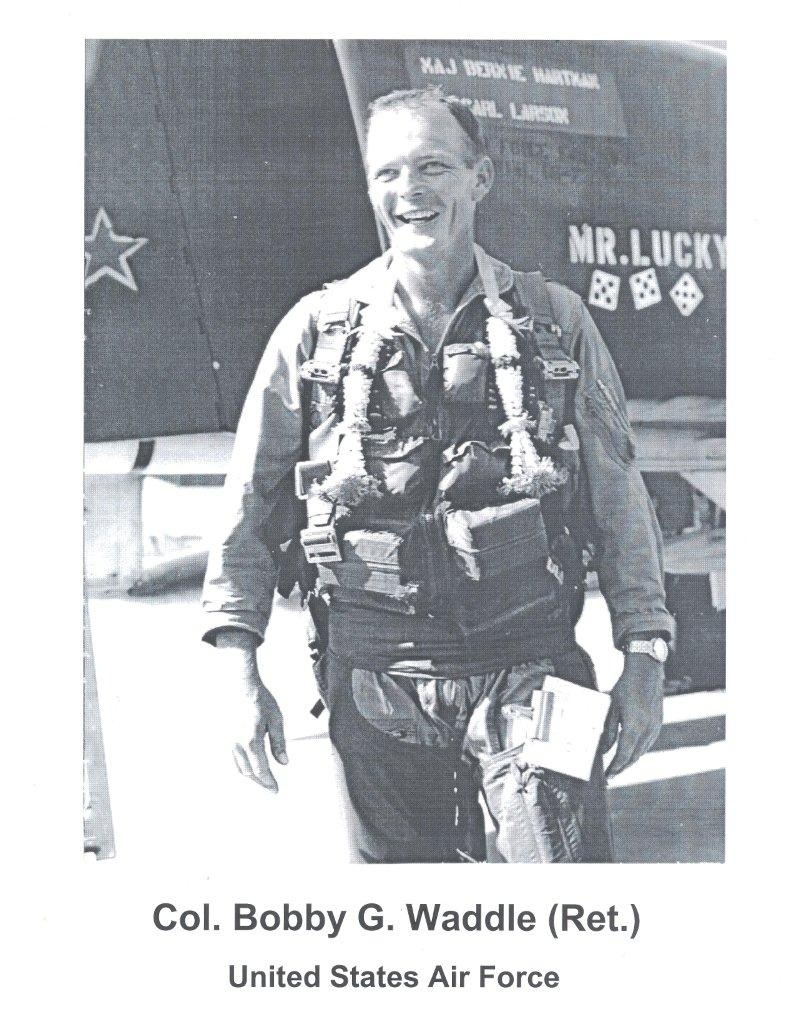 Waddle after he completed his 100th mission over Southeast Asia