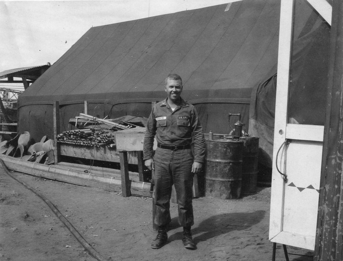 Jay at 1099th basecamp at the fish market near Saigon