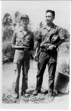 Photo of Released Political Prisoner with fellow ARVN