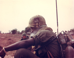 radio operator in field