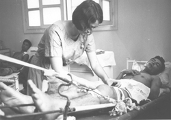 Australian nurse Josephine Champion at Bien Hoa provincial hospital