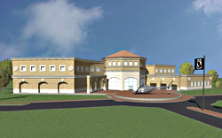 Front view of proposed Vietnam Center building