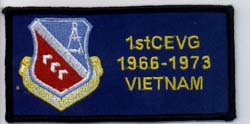 Patch 1st CEVG, 1966 - 1973, Vietnam: Melvin Hawkins Collection [2067museum3360]