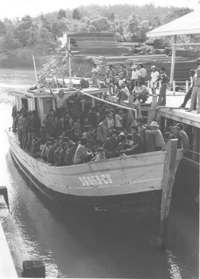 Vietnamese refugees continue to risk their lives on small boats.: Douglas Pike Photograph Collection [VA001710]