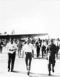 Colonel Edward G. Lansdale - April 27, 1966 - Long Xuyen Aiport: Rufus Phillips Collection [VA066298]