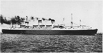 Postcard image of the USNS General Edwin D. Patrick