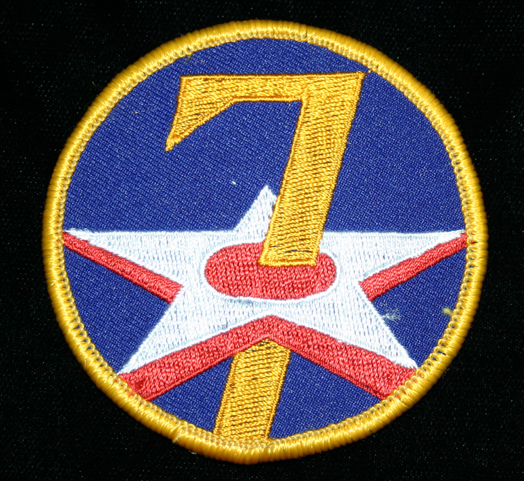 069museum3280  7th Air Force patch  Richard (Dick) Detra Collection