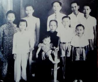 Childhood family photo