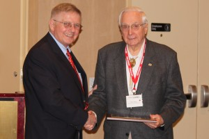 Dr. Buesseler and Dr. James Reckner at the 2011 Vietnam Center Symposium
